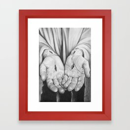 Jesus Hands Framed Art Print