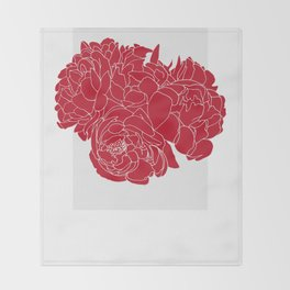 Floral Reds Throw Blanket