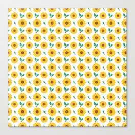 Sunflower and Berry Pattern Canvas Print