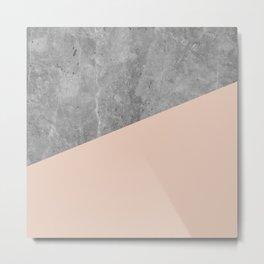 Simply Concrete Blush Pink Metal Print