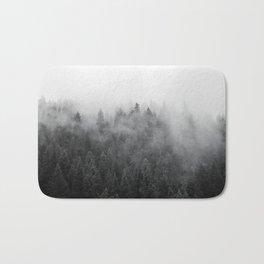 Black and White Mist Ombre Bath Mat