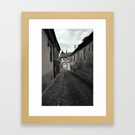 Romanian Works 24 Sibiu Alley Framed Art Print