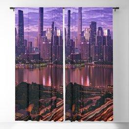 Famous Liede Bridge Pearl River Guangzhou Guangdong China Pazhou Haizhu Tianhe Ultra HD Blackout Curtain