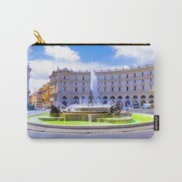Fountain of Piazza della Republica in Rome Carry-All Pouch