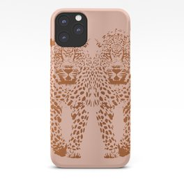 Sunset Blvd Leopard - blush pink and coral original print by Kristen Baker iPhone Case