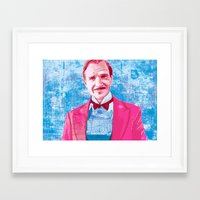 budapest hotel Framed Art Prints featuring The Grand Budapest Hotel by Matthew Brazier Illustration