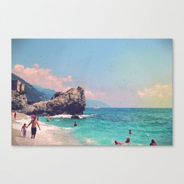 Like An Italian Riviera Postcard Canvas Print