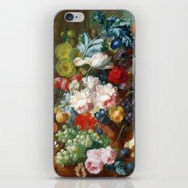 Fruit and Flowers in a Terracotta Vase by Jan van Os iPhone Skin