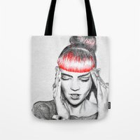 grimes Tote Bags featuring Grimes by Eric Magnussen