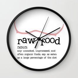 Raw Food Diet unisex Wall Clock