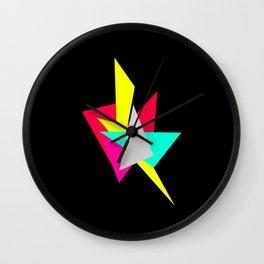 Colour Shards 02 Wall Clock