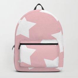 Happy Pink Star Print Backpack