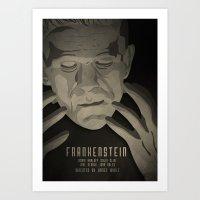 frankenstein Art Prints featuring Frankenstein by James Northcote