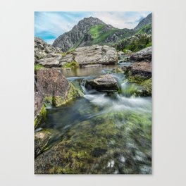 Tryfan Mountain Stream  Canvas Print
