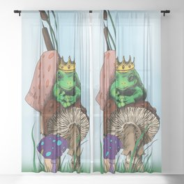 Frog Prince Sheer Curtain