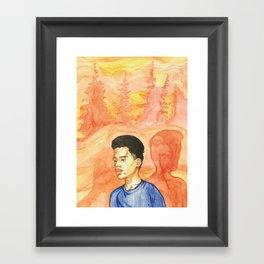 A Stranger Framed Art Print