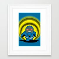 returns Framed Art Prints featuring Chubbyseid Returns  by AWOwens