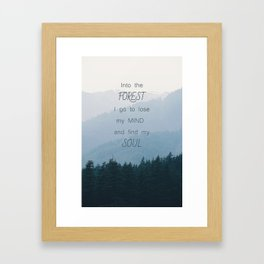 Forest and Soul Framed Art Print
