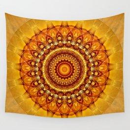 Mandala bright yellow Wall Tapestry