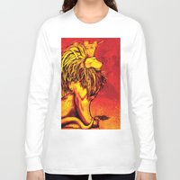 the lion king Long Sleeve T-shirts featuring Lion King by RICHMOND ART STUDIO