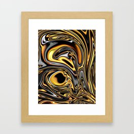 Hot Flowing Chocolate Collision Framed Art Print