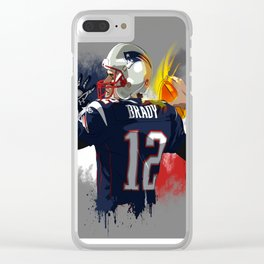 Tom Brady Clear iPhone Case