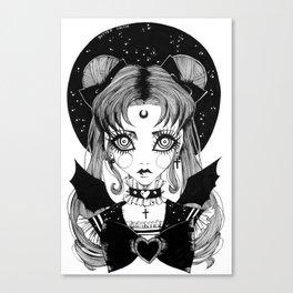 Sailor Goth Moon Canvas Print