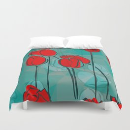 Abstract Tulips Duvet Cover