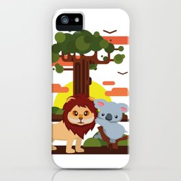 Leo lion & Koalina iPhone Case