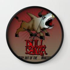 Bull Shark Version 2 Animal Series by RonkyTonk Wall Clock