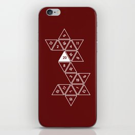 Red Unrolled D20 iPhone Skin