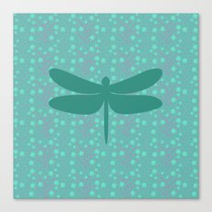 pattern with dragonfly 2 Canvas Print