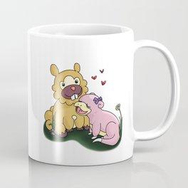 Bidoof and Slowpoke Love Coffee Mug