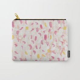 Abstract painting pattern with modern colors navy gold pink Carry-All Pouch
