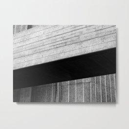 brutalist angles - national theatre london Metal Print