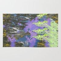nicki Area & Throw Rugs featuring Technicolor Sky by Nicki Kenyon