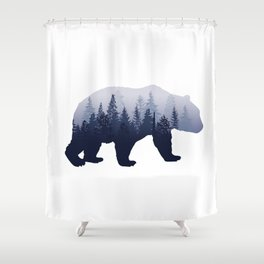 Bear in the Woods Shower Curtain