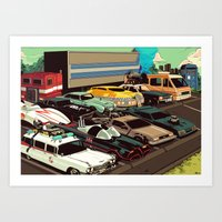 cars Art Prints featuring Cars by Dave Collinson