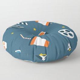Movie Night Whimsical Pattern Floor Pillow