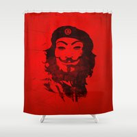 anonymous Shower Curtains featuring Che Anonymous by Nxolab