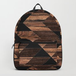 Urban Tribal Pattern No.11 - Aztec - Wood Backpack