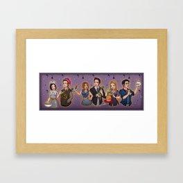 Friends TV Show - Monica Chandler Rachel Ross Phoebe Joey Framed Art Print