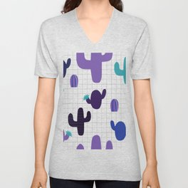 Cactus purple #homedecor Unisex V-Neck