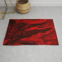 Blood Red Marble Rug
