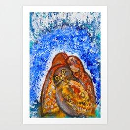 Winter's Nest #society6   #decor #buy art Art Print