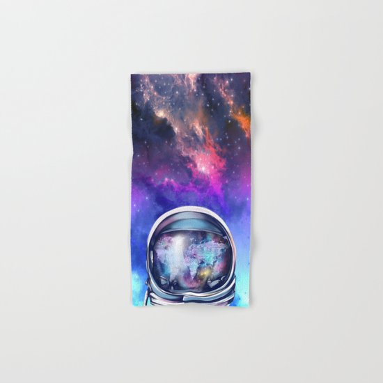 astronaut world map 1 Hand & Bath Towel