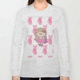 Little Ballerina in Pink Long Sleeve T-shirt
