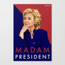 Hillary Poster  Canvas Print