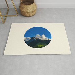 Green Mountain Valley Clouds & Blue Sky Rug