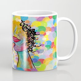 ASL for MOTHER on a Bright Bubble Background Coffee Mug